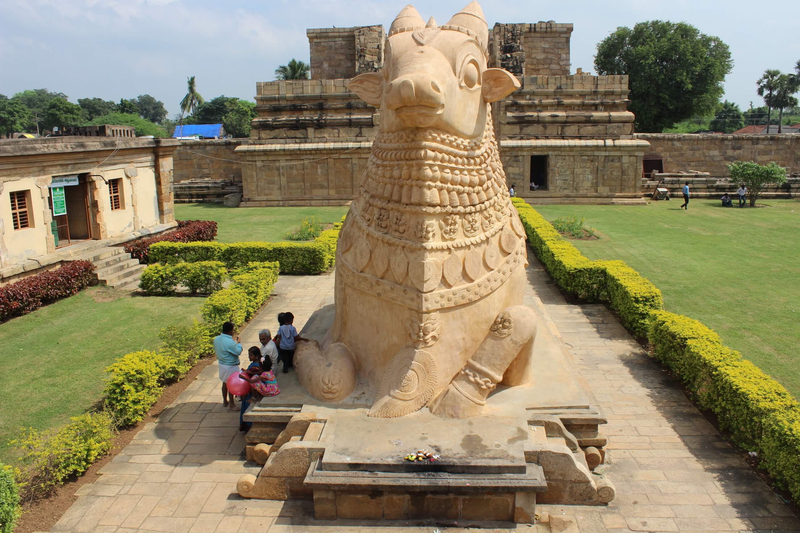 Representation of Nandi (Bull) in Ancient Shivan Temple at Gangai konda Cholapuram