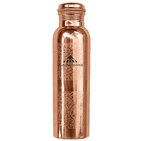 1ltr Engraved Copper Bottle