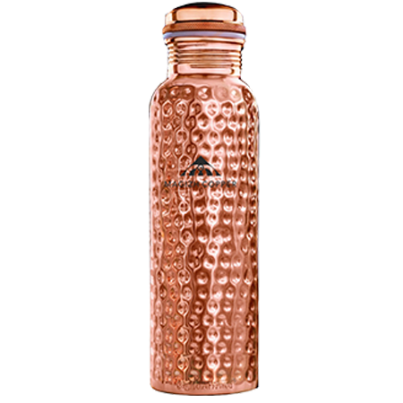Hammered Copper Water Bottle 1litre