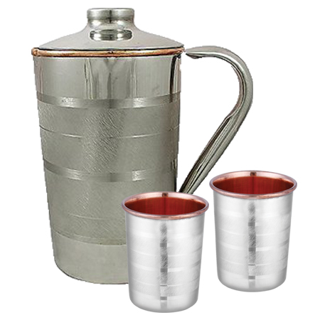 SS Copper Luxury Jug Combo