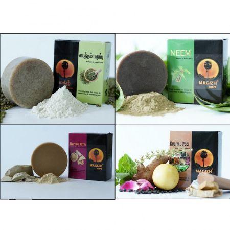 Magizh Organic Handmade Soap 4 Pack Combo-II